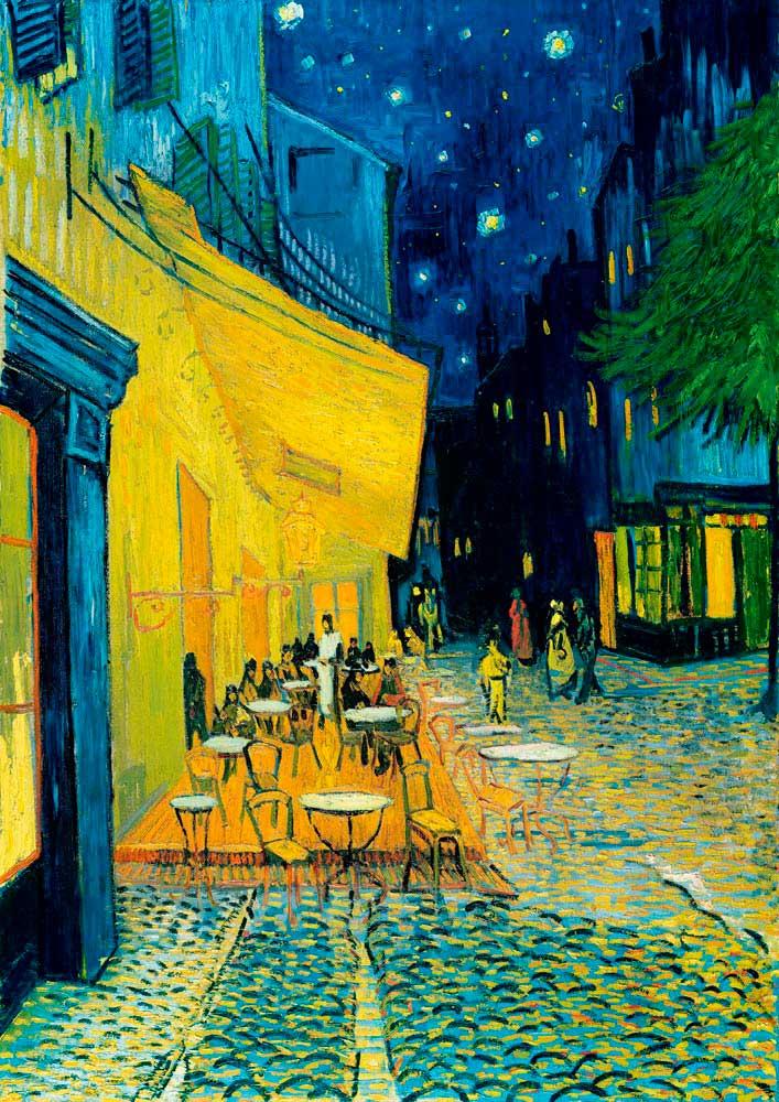 Puzzle Bluebird Terraza de Café por la noche de 1000 Piezas