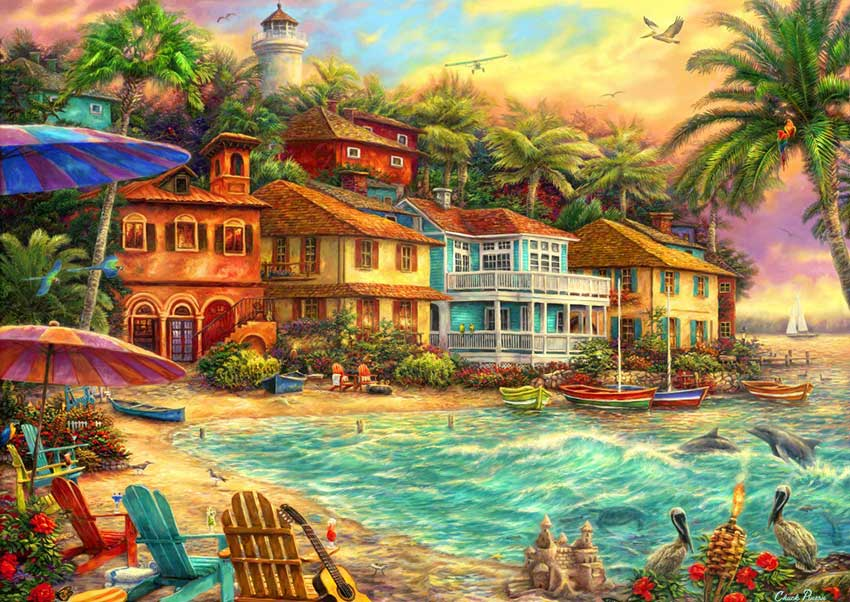Puzzle Bluebird Tiempo en la Isla de 2000 Piezas