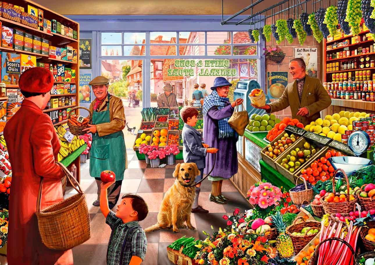 Puzzle Bluebird Tienda de Frutas y Verduras de 1000 Piezas