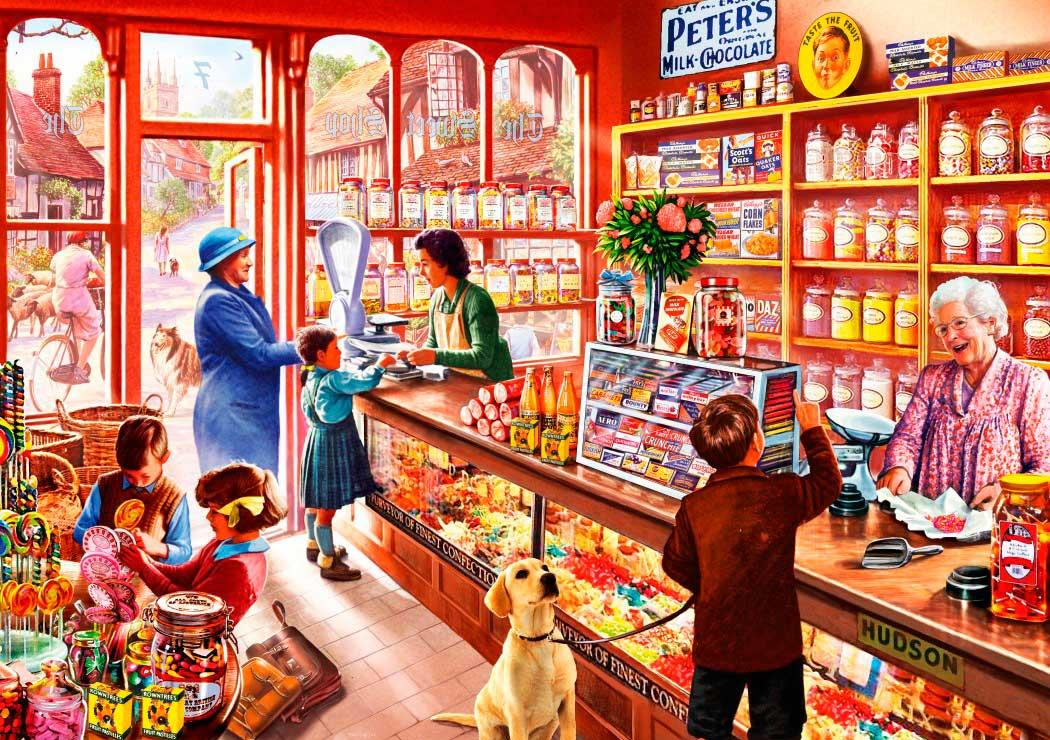 Puzzle Bluebird Tienda de Golosinas de 1000 Piezas