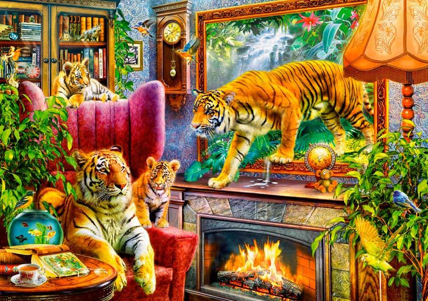 Puzzle Bluebird Tigres Regresando a la Vida de 1000 Piezas