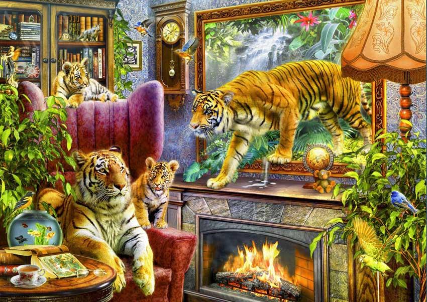 Puzzle Bluebird Tigres Volviendo a la Vida de 2000 Piezas