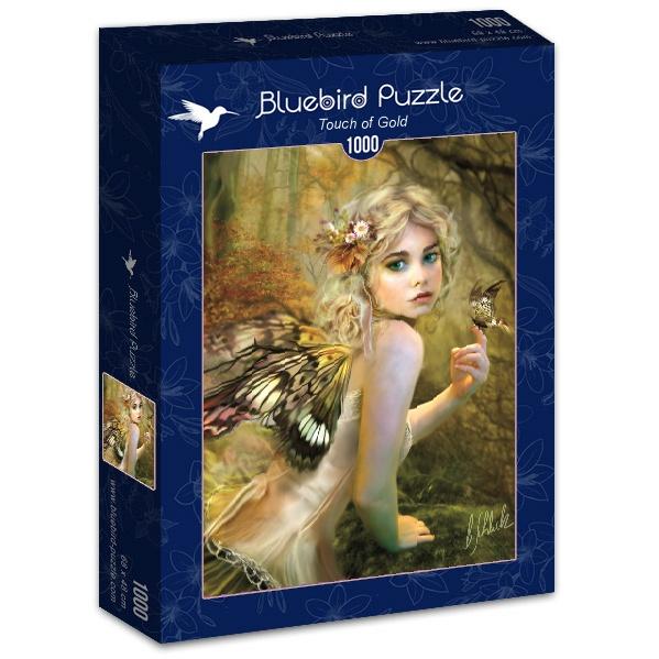 Puzzle Bluebird Toque de Oro de 1000 Piezas