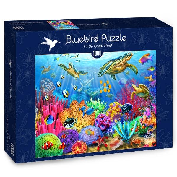 Puzzle Bluebird Tortuga de Arrecife de Coral de 1000 Piezas