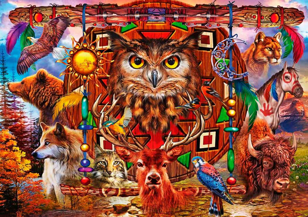 Puzzle Bluebird Totem Animal de 4000 Piezas