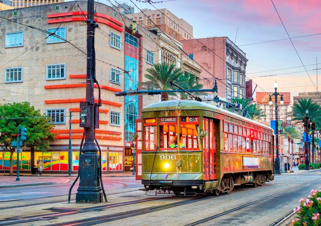 Puzzle Bluebird Tranvía en Nueva Orleans de 1000 Piezas