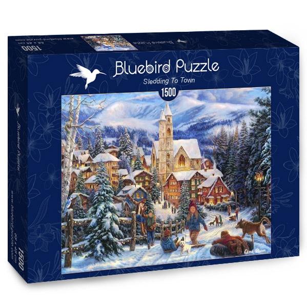 Puzzle Bluebird Trineo Hasta el Pueblo de 1500 Piezas