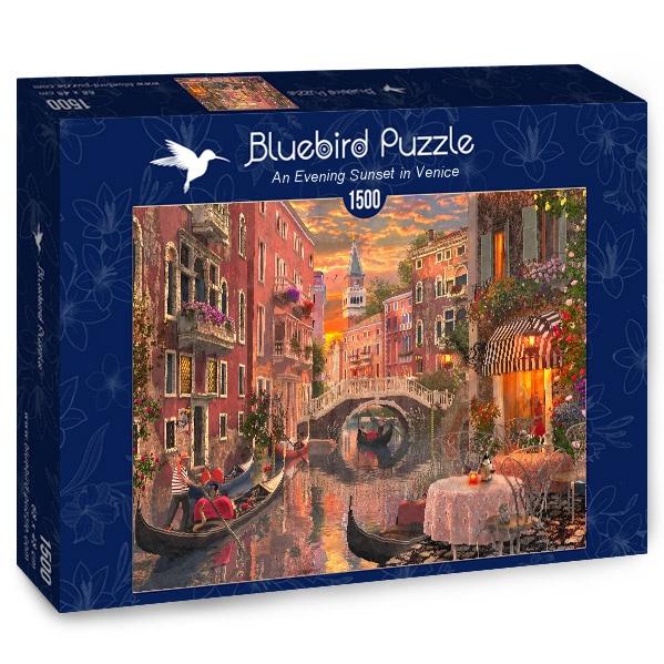 Puzzle Bluebird Un Arardecer en Venecia de 1500 Piezas