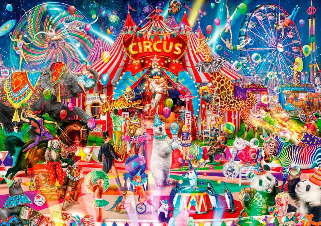Puzzle Bluebird Una Noche en el Circo de 1000 Piezas