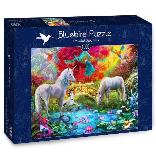 Puzzle Bluebird Unicornios Orientales de 1000 Piezas