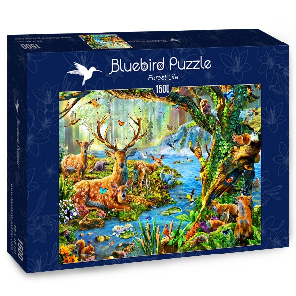 Puzzle Bluebird Vida del Bosque de 1500 Piezas