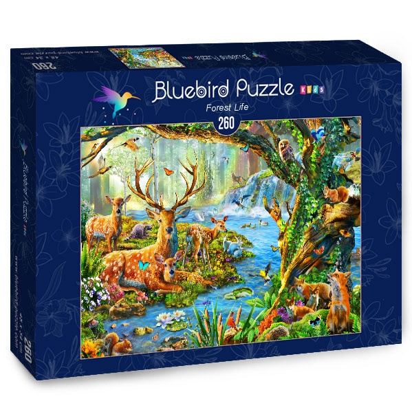 Puzzle Bluebird Vida del Bosque de 260 Piezas
