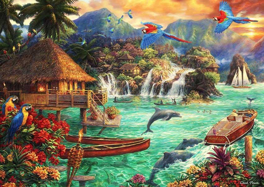Puzzle Bluebird Vida en la Isla de 2000 Piezas