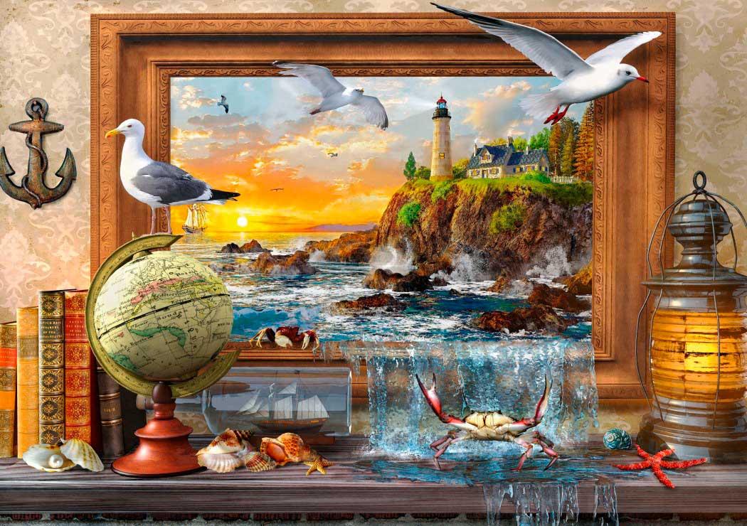 Puzzle Bluebird Vida Marina de 1000 Piezas