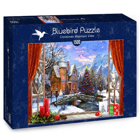 Puzzle Bluebird Vista de la Montaña en Navidad de 1500 Piezas