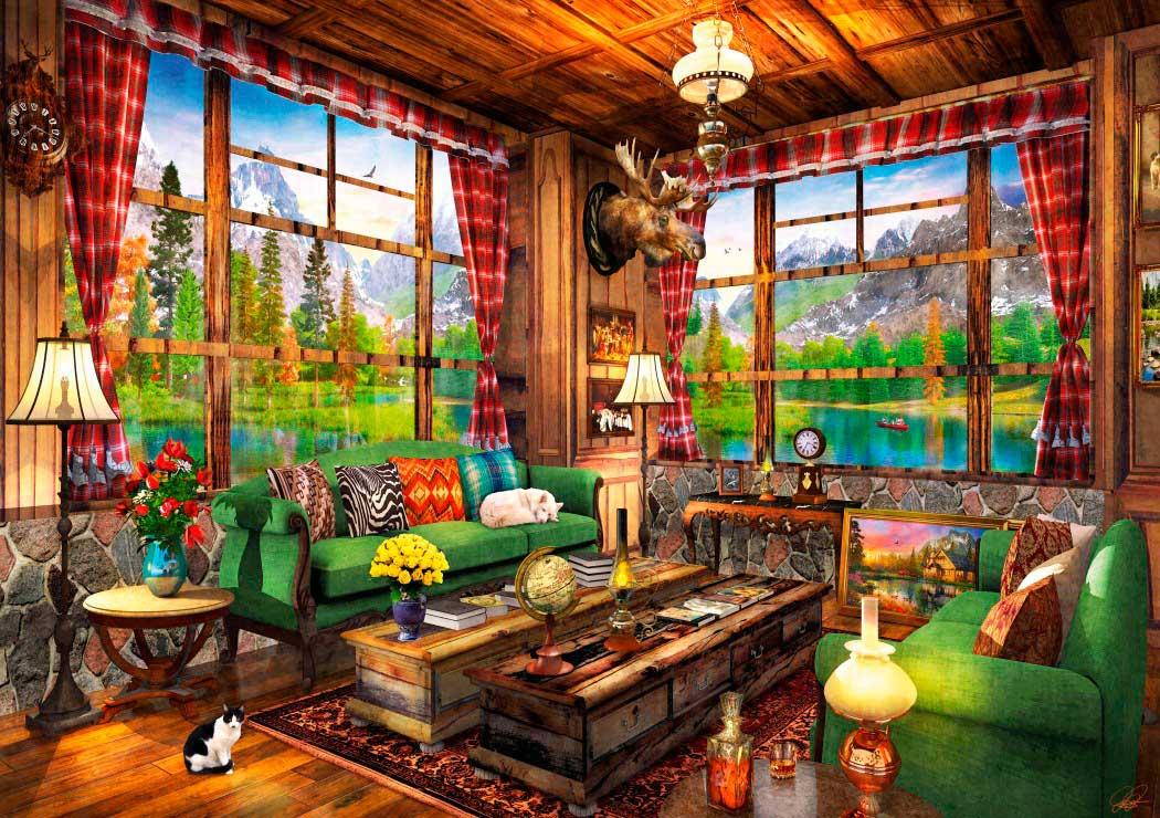 Puzzle Bluebird Vistas Desde la Cabaña de 1000 Piezas