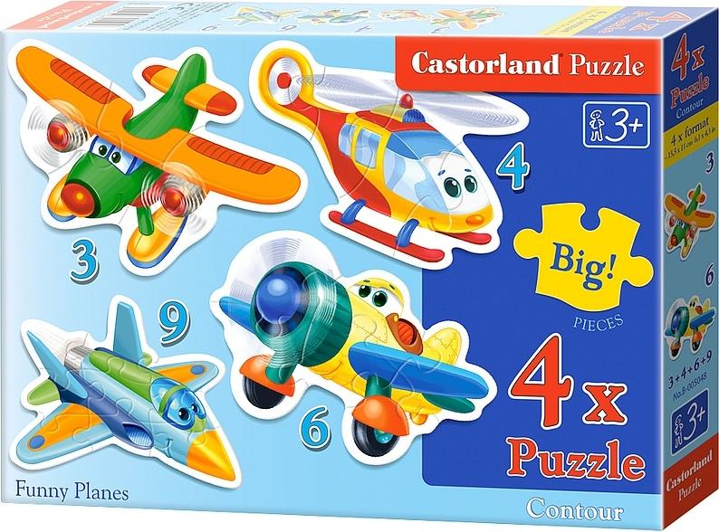 Puzzle Castorland Aeronaves Divertidas Progresivo 3+4+6+9