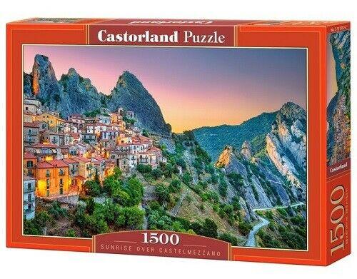 Puzzle Castorland Amanecer en Castelmezzano de 1500 Piezas