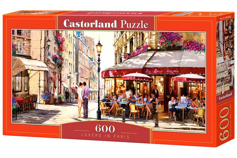 Puzzle Castorland Amantes en París de 600 Piezas