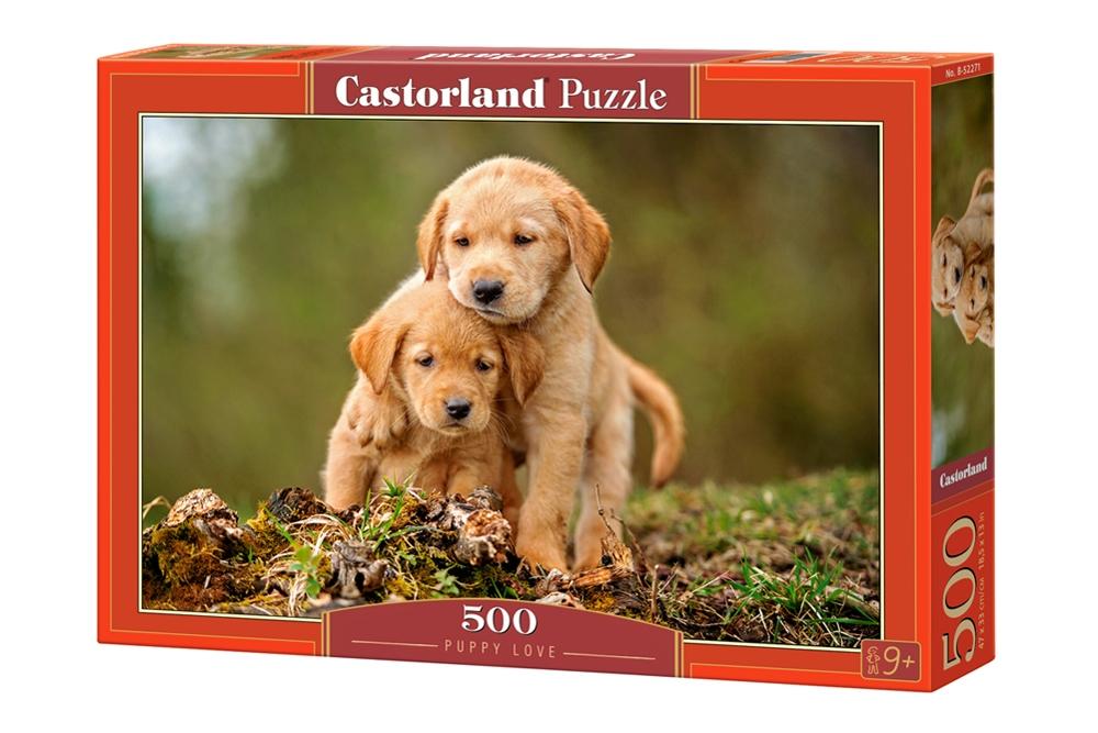Puzzle Castorland Amor Entre Cachorros de 500 Piezas