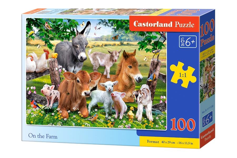 Puzzle Castorland Animales de la Granja de 100 Piezas