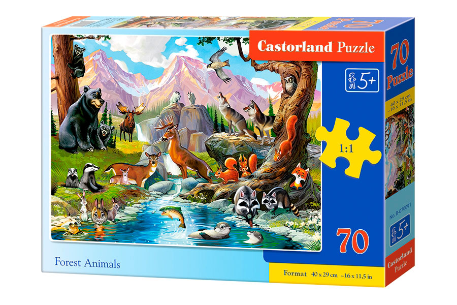 Puzzle Castorland Animales en el Bosque de 70 Piezas