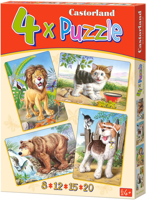 Puzzle Castorland Animales en Libertad 8+12+15+20