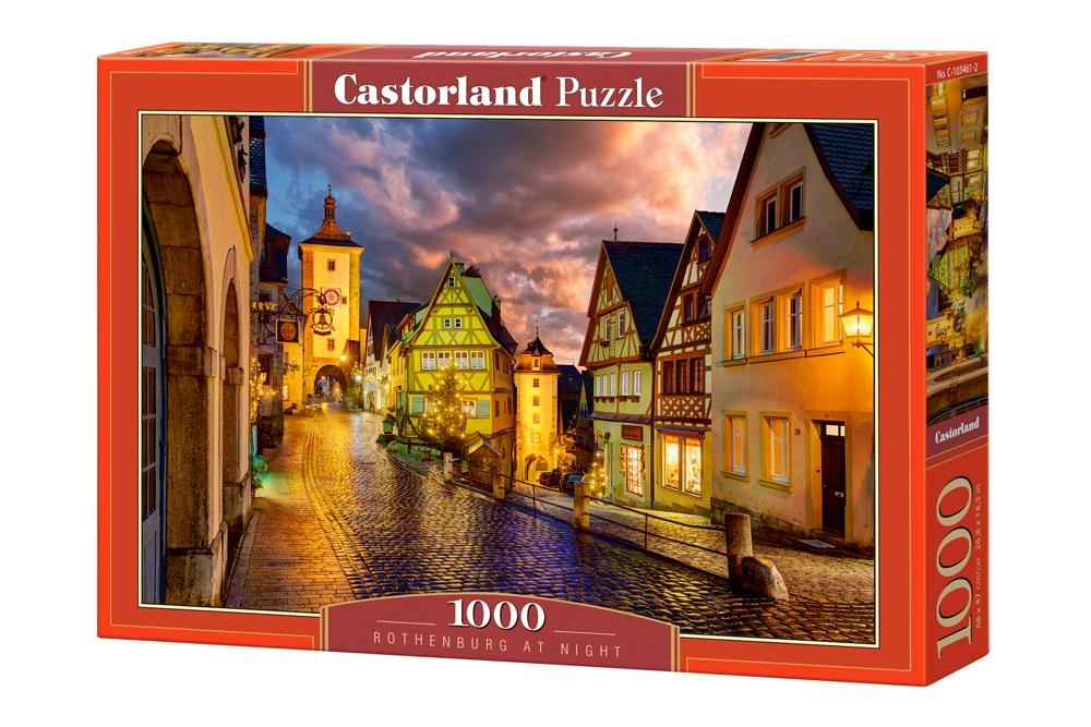 Puzzle Castorland Anochecer en Rotemburgo de 1000 Piezas