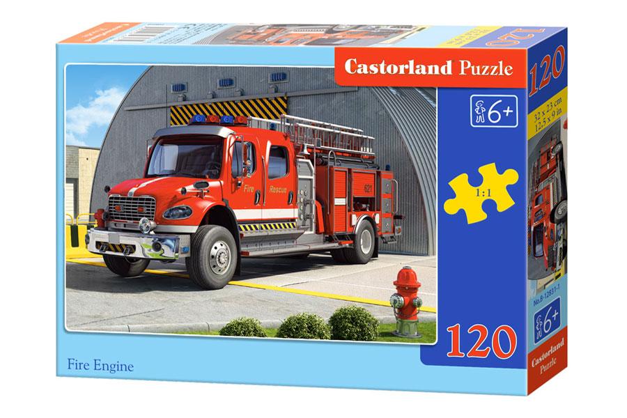 Puzzle Castorland Antiguo Camión de Bomberos 120 Piezas