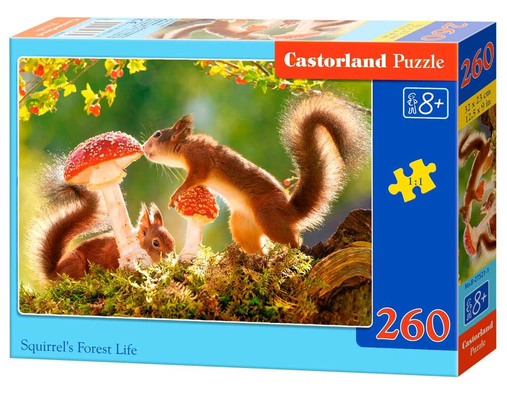 Puzzle Castorland Ardillas Del Bosque de 260 Piezas