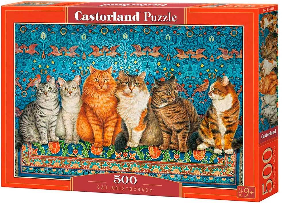 Puzzle Castorland Aristocracia de Gatos de 500 Piezas