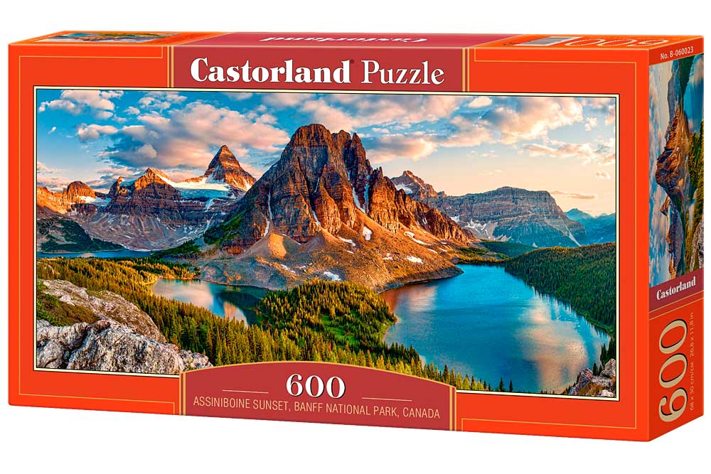 Puzzle Castorland Atardecer en Assiniboine, Canadá de 600 Piezas