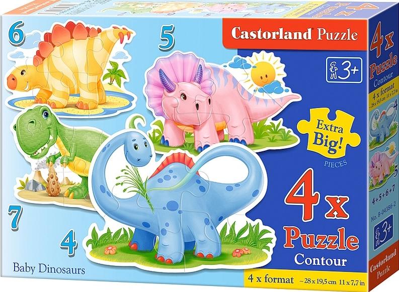 Puzzle Castorland Baby Dinosaurios 4+5+6+7