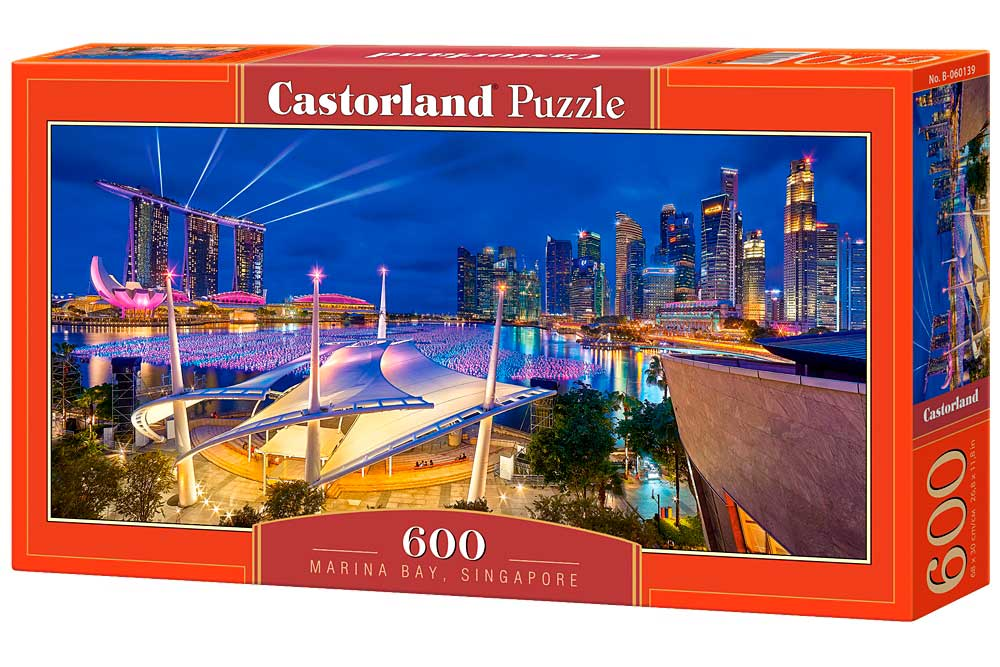 Puzzle Castorland Bahía Marina, Singapur de 600 Piezas