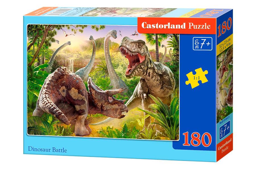 Puzzle Castorland Batalla de Dinosaurios de 180 Pzs.