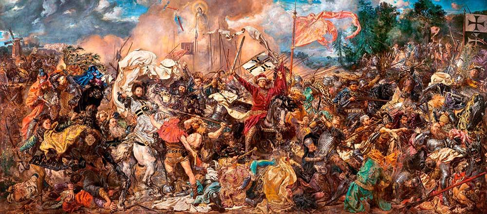 Puzzle Castorland Batalla de Grunwald, Jan Matejko de 600 Pzs