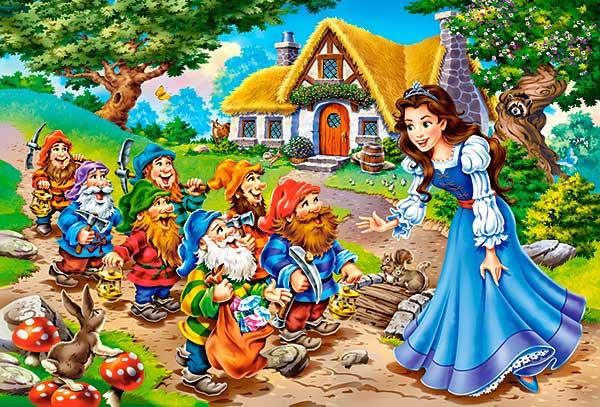 Puzzle Castorland Blancanieves y los 7 Enanitos de 40 Piezas