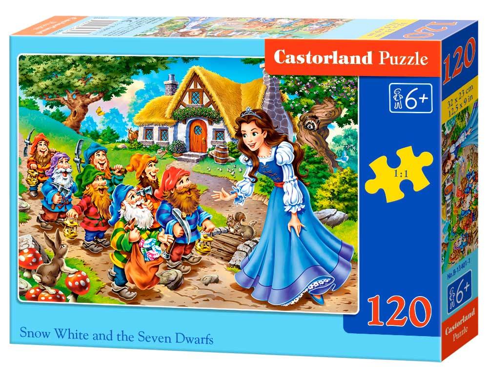 Puzzle Castorland Blancanieves y los Siete Enanitos de 120 Pieza