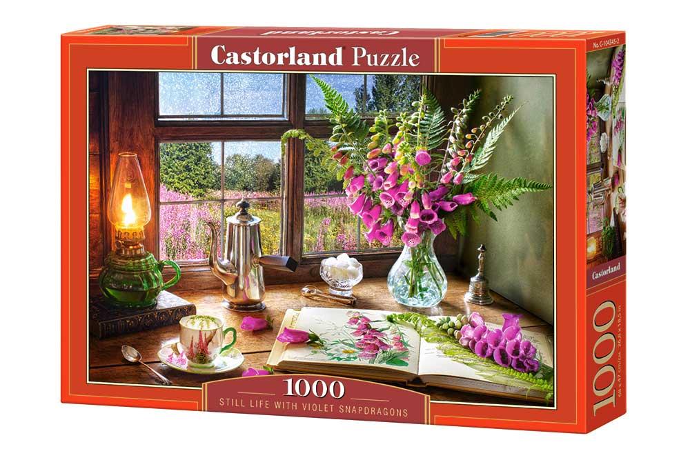 Puzzle Castorland Bodegón con Flores Violetas de 1000 Piezas