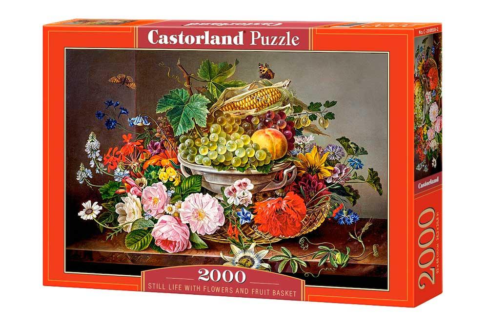 Puzzle Castorland Bodegón con Flores y Canasta de Frutas de 2000