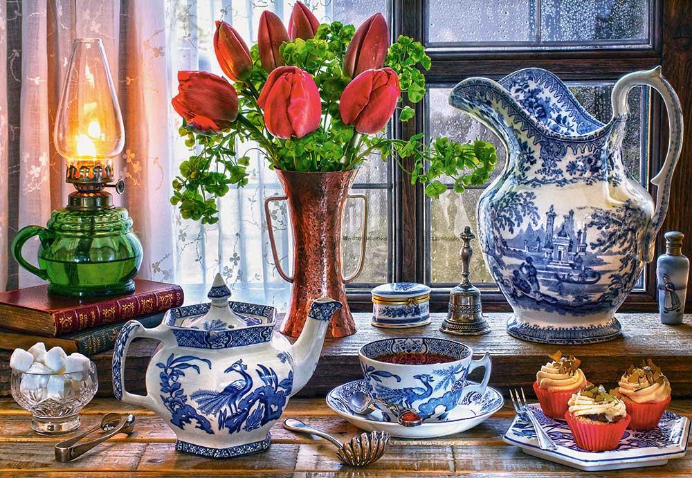 Puzzle Castorland Bodegón con Tulipanes de 1500 Piezas