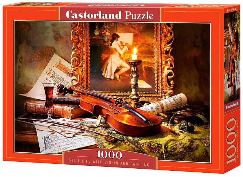 Puzzle Castorland Bodegón de Violín y Pintura de 1000 Piezas