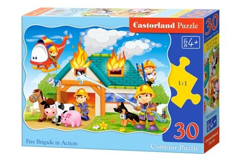 Puzzle Castorland Bomberos en Acción de 30 Piezas