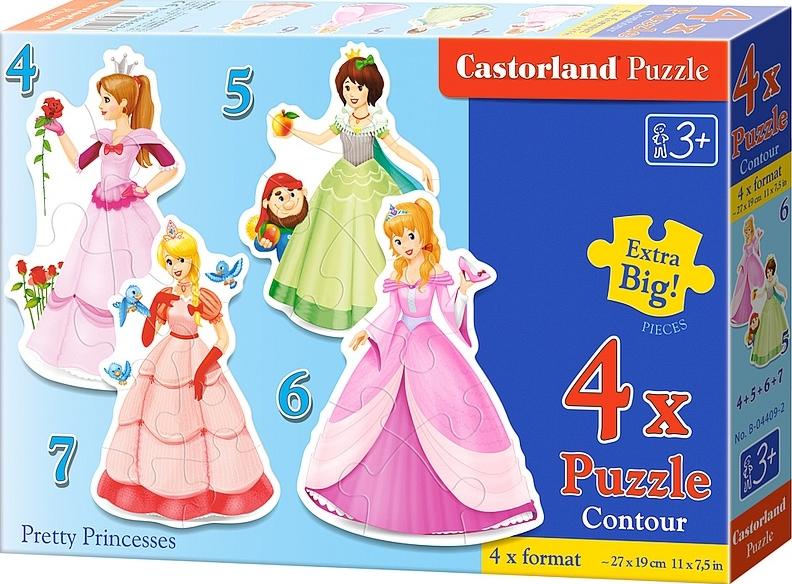 Puzzle Castorland Bonitas PrincesasProgresivo 4+5+6+7