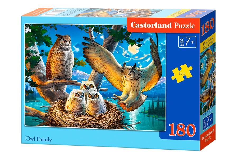 Puzzle Castorland Búhos en Familia de 180 Piezas