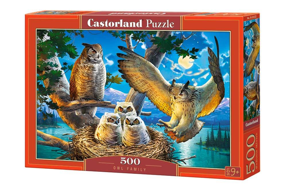 Puzzle Castorland Búhos En Familia de 500 Piezas