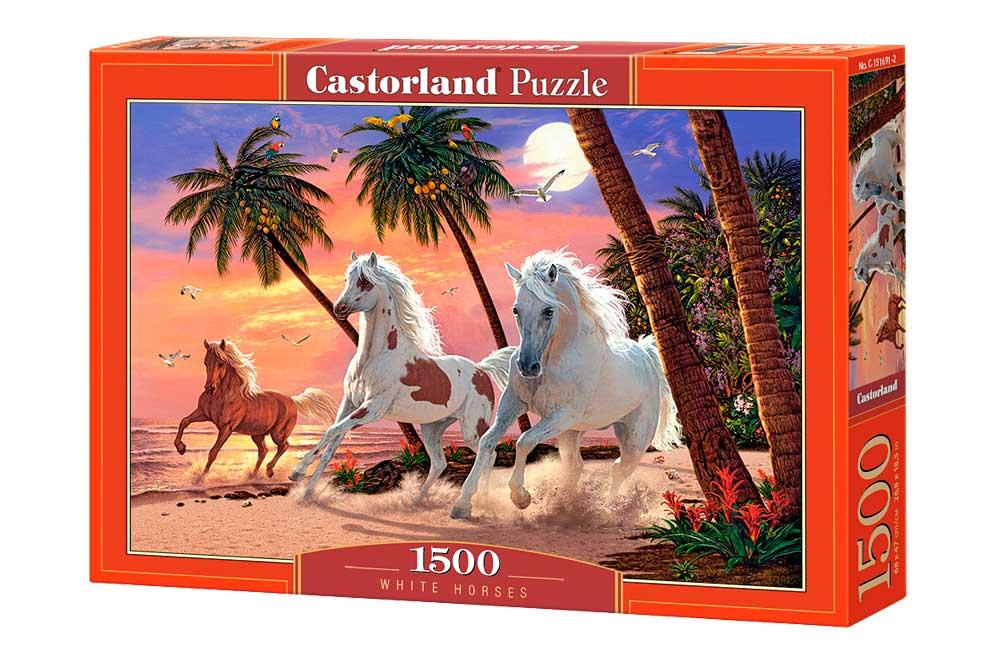 Puzzle Castorland Caballos Blancos de 1500 Piezas