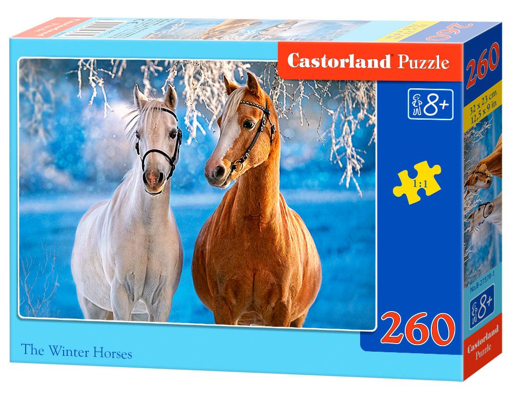 Puzzle Castorland Caballos de Invierno de 260 Piezas