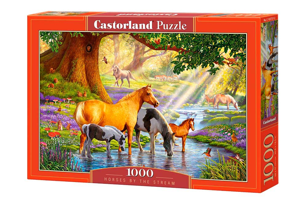Puzzle Castorland Caballos en el Arroyo de 1000 Piezas