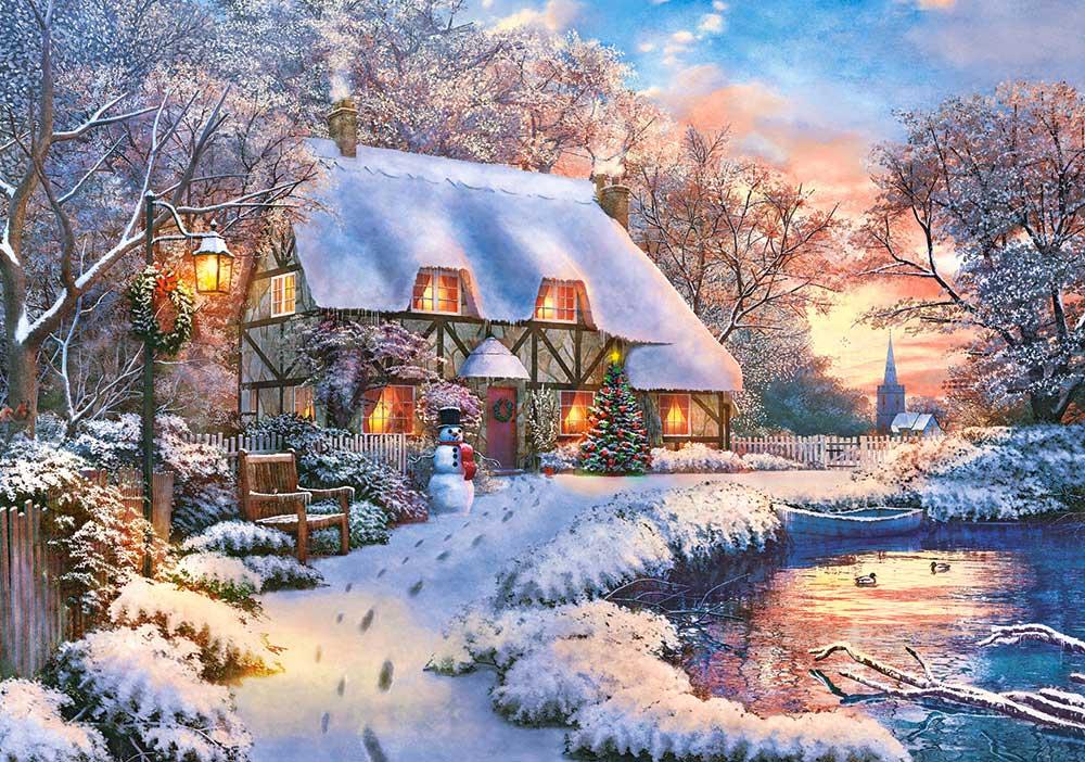 Puzzle Castorland Cabaña de Invierno de 500 Piezas
